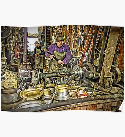 The Brass Turner At Work (Pentax k-r) Poster
