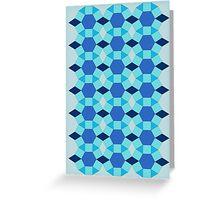Tessellation dark light blue Greeting Card