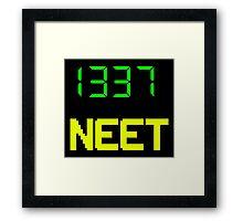 1337 NEET / LEET NEET - Anime - Otaku - Geek - Retro Gaming - Digital Design Framed Print