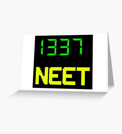 1337 NEET / LEET NEET - Anime - Otaku - Geek - Retro Gaming - Digital Design Greeting Card