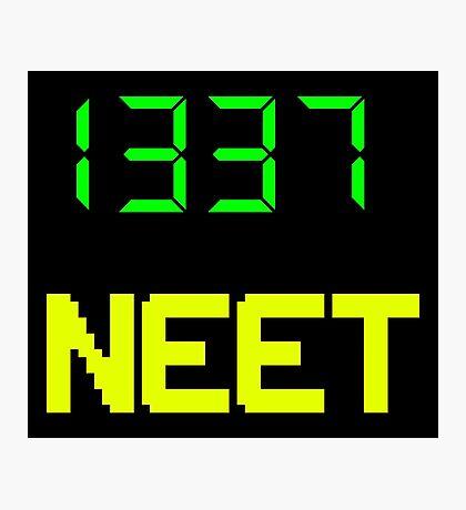 1337 NEET / LEET NEET - Anime - Otaku - Geek - Retro Gaming - Digital Design Photographic Print