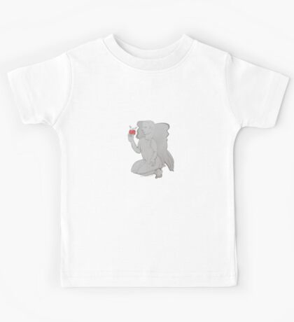 The Inducement Angel with Red Apple (Original Art Drawing by Alice Iordache) Kids Tee