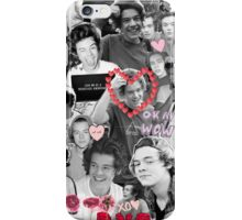 Harry Styles B&W Collage iPhone Case/Skin