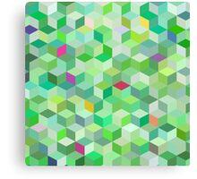 Green Cubes Canvas Print