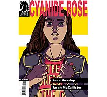 CYANIDE ROSE - comic book cover! Photographic Print