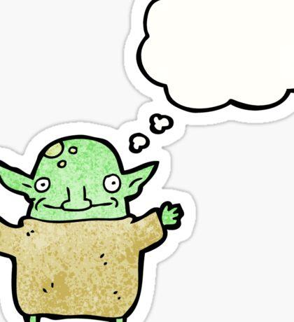 little goblin cartoon Sticker
