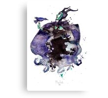 Maleficent inkblot by Mary Doodles Canvas Print