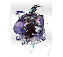 Maleficent inkblot by Mary Doodles Poster