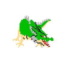 8bit Dragon Photographic Print