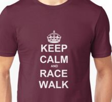 Keep Calm and Race Walk (White) Unisex T-Shirt