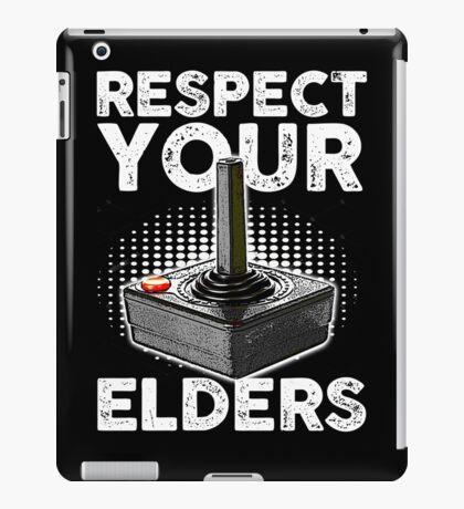 RESPECT YOUR ELDERS VIDEO GAMER iPad Case/Skin