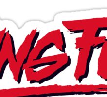 Kung Fury Martial Arts Film  Sticker