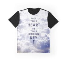 May your Heart be your guiding Key - Background version  Graphic T-Shirt