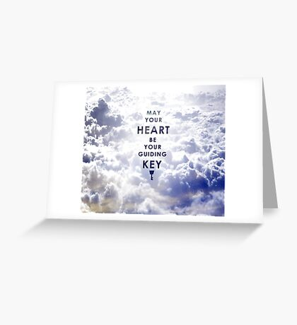 May your Heart be your guiding Key - Background version  Greeting Card