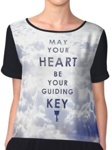 May your Heart be your guiding Key - Background version  Chiffon Top