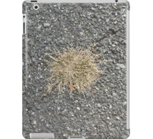 Old pavement with old grass iPad Case/Skin