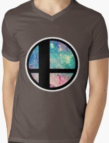 Galactic Smash Bros. Final destination Mens V-Neck T-Shirt