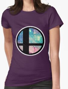 Galactic Smash Bros. Final destination Womens Fitted T-Shirt
