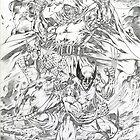 Wolvy, Cap and Doom! by alrioart