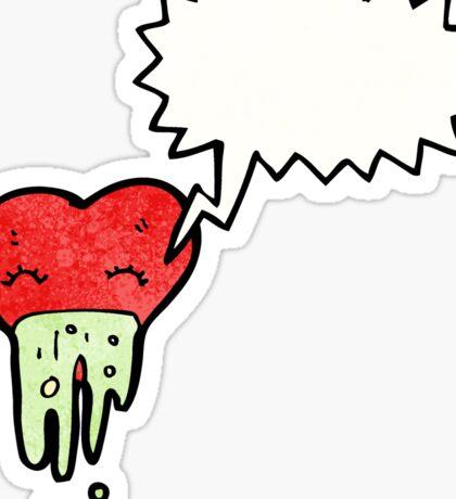 love sick heart cartoon Sticker