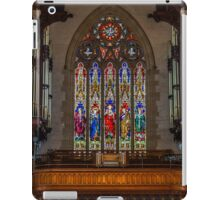 Sacred Hearth Cathedral Stained Glass Windows iPad Case/Skin