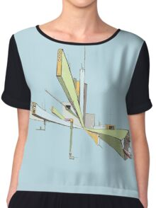 Ordinal Name graphic logo Chiffon Top