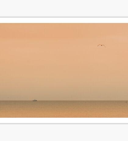minimalistic sunrise at sea Sticker