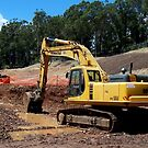 Komatsu PC300 Excavator by buildings
