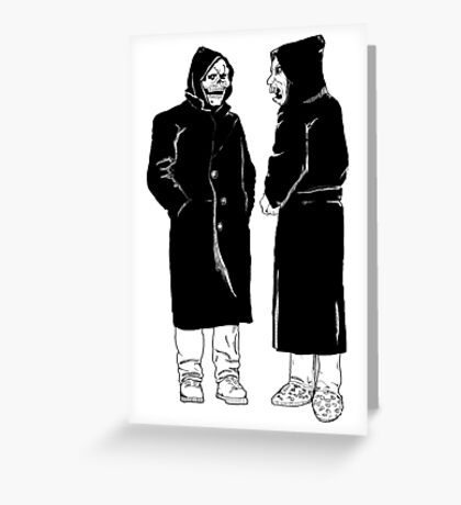 brand new - the devil and god  Greeting Card