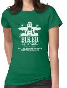Biker Grandpa Funny Black Men's Tshirt Womens Fitted T-Shirt
