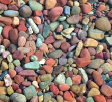 Small clean colorful stones in  the lake of Glacier National Park. Nature photography. Sticker