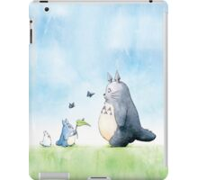 Totoro with Butterflies  iPad Case/Skin
