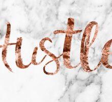 Hustle rose gold marble Sticker