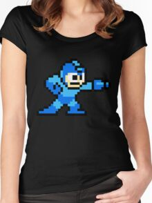 Mega Man game shirt Women's Fitted Scoop T-Shirt