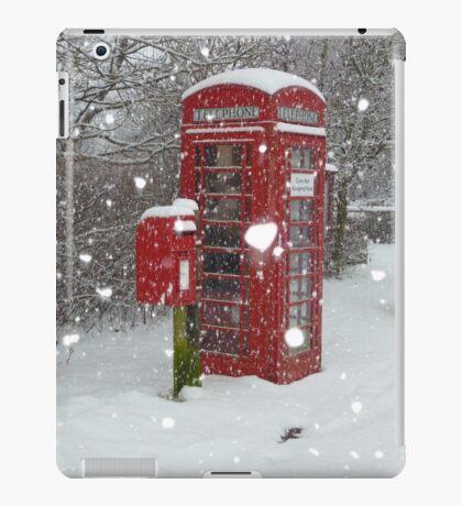 Red Telephone Box. Winter. England. iPad Case/Skin