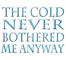The Cold Never Bothered Me Photographic Print