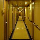 Corridor. Cruise Ship. by David Dutton