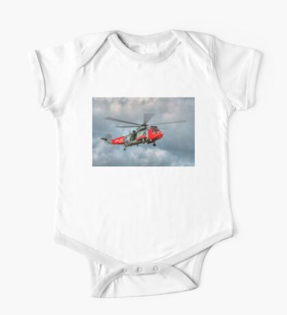 Royal Navy Search and Rescue Sea King Helicopter One Piece - Short Sleeve