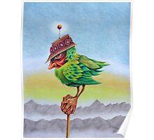Bird Man On A Stick Poster