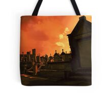 with a trumpet call..... Tote Bag