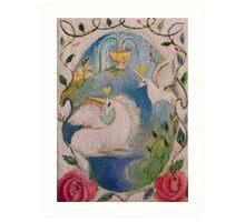 grail unicorns Art Print