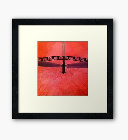 London (red) Eye, London, England. Framed Print