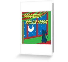 Goodnight Sailor Moon Greeting Card