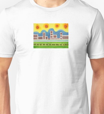 Surreal Simplified Cityscape  Unisex T-Shirt