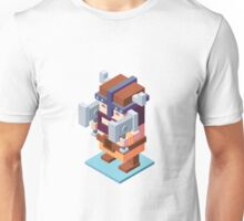 game characters, video game characters, game elf, game barbarian, game knight, game wizard, isometric game Unisex T-Shirt