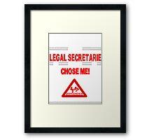Legal Secretarie Life Framed Print