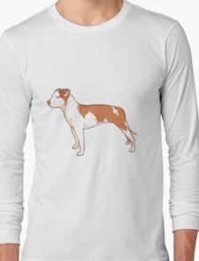 Staffordshire Terrier (red and white) Long Sleeve T-Shirt