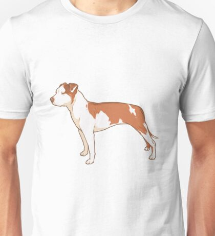 Staffordshire Terrier (red and white) Unisex T-Shirt