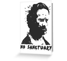 No Sanctuary Greeting Card