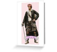Jamie Fraser Flower Crown Greeting Card